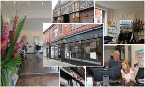 Collage of Altrincham salon photos