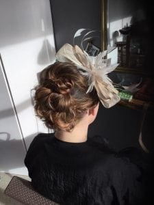 wedding hair at sand hairdressing