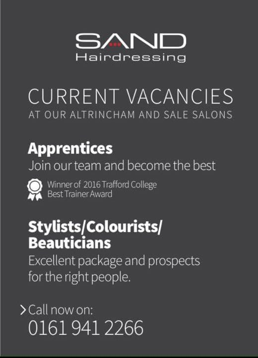 Careers at Sand Hairdressing